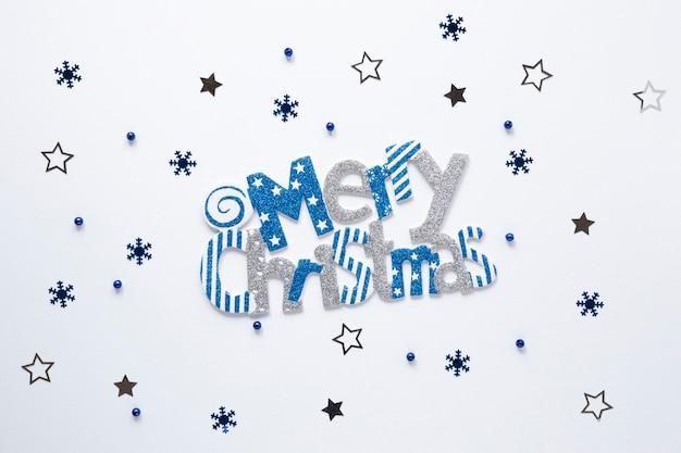 Segno di buon natale con stelle Foto Gratuite