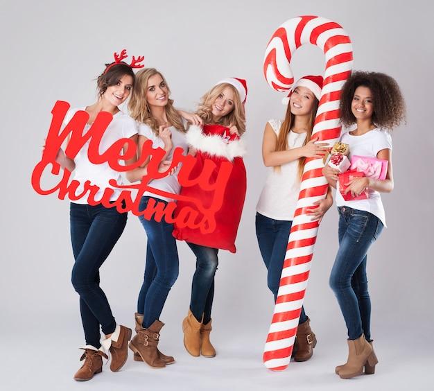 みんなのメリークリスマスタイム 無料写真