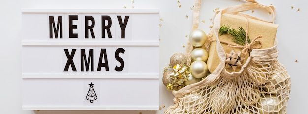Merry xmas signboard Premium Photo