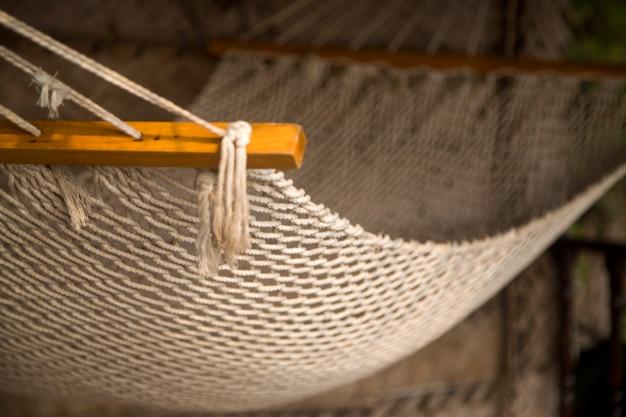 Mesh hammock in agonda, goa, india Premium Photo