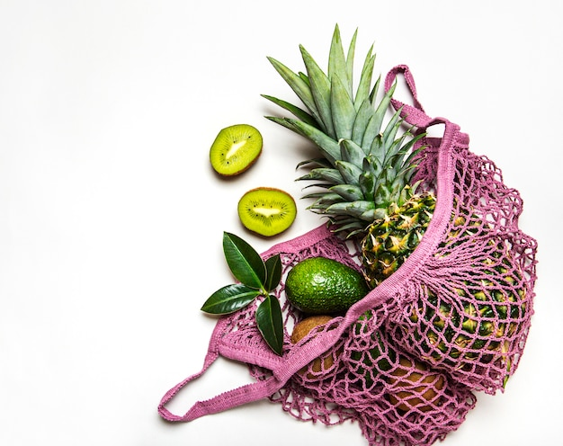 フルーツ入りメッシュショッピングバッグ Premium写真