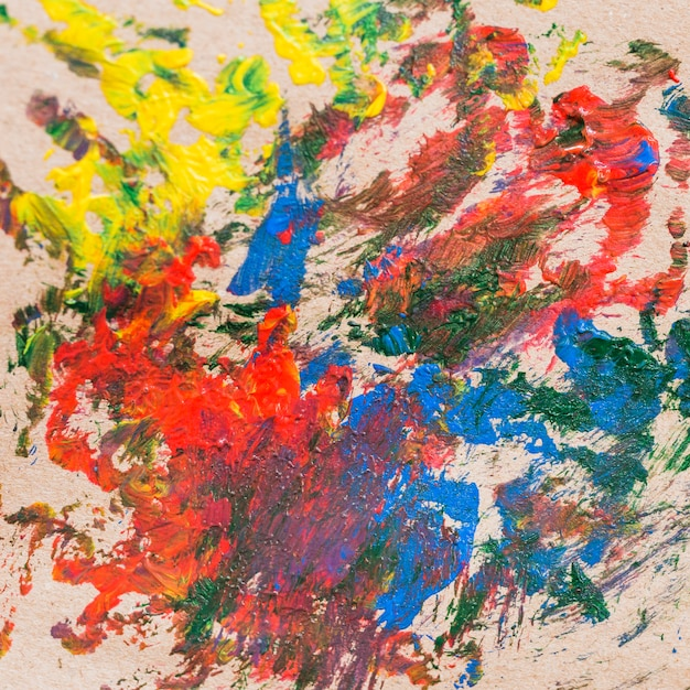 Messy colorful abstract painting on canvas | Free Photo