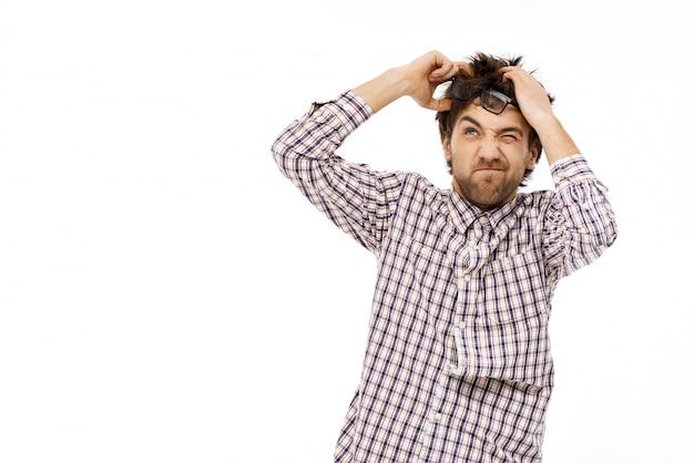 Грязный парень, мозговой штурм, продуманные идеи Бесплатные Фотографии