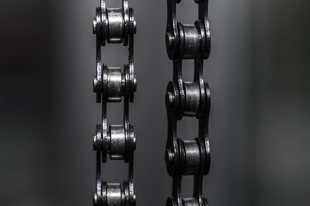 Metal bicycle chain. closeup Free Photo