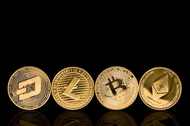 Metal crypto currency Premium Photo