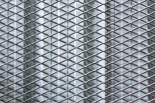 Metal fence texture background Premium Photo