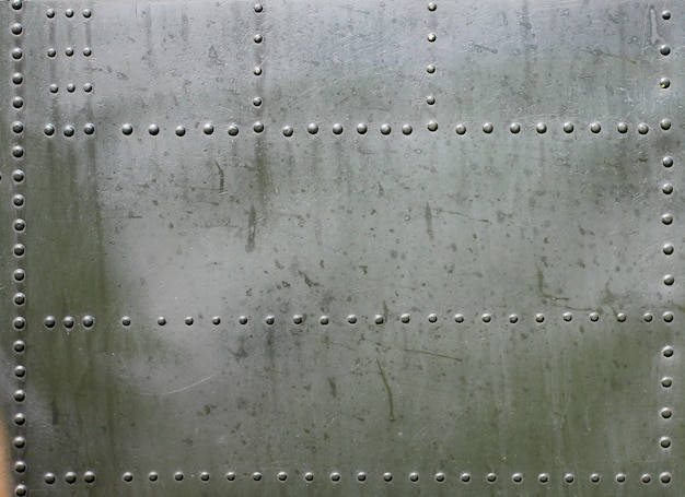 Metal surface of military armored Premium Photo