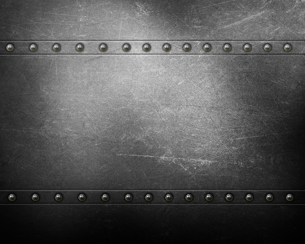 Metal texture background with rivets Free Photo