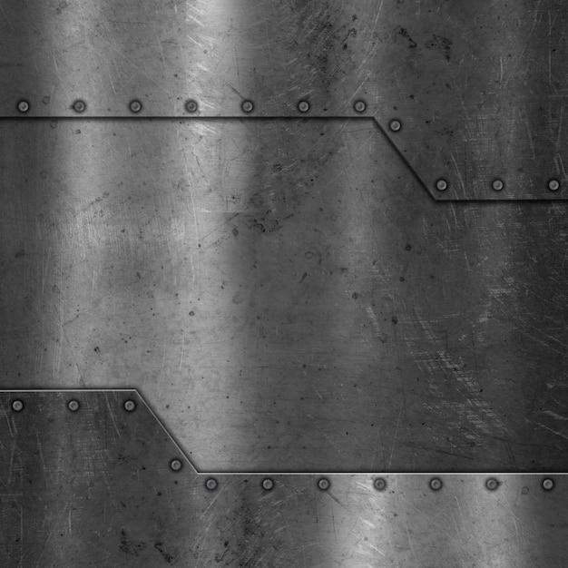 Metal texture with screws Free Photo