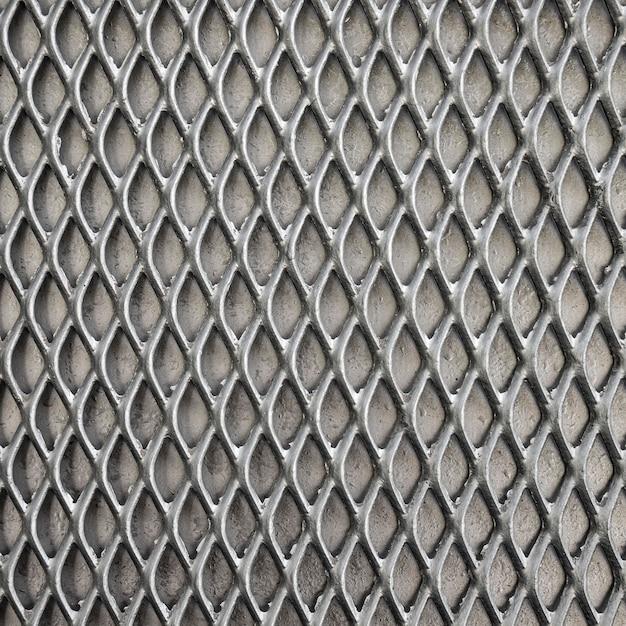灰色のトーンの金属の背景のフェンス 無料写真