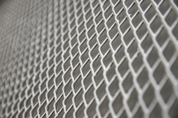 회색 톤의 금속 배경 울타리 프리미엄 사진