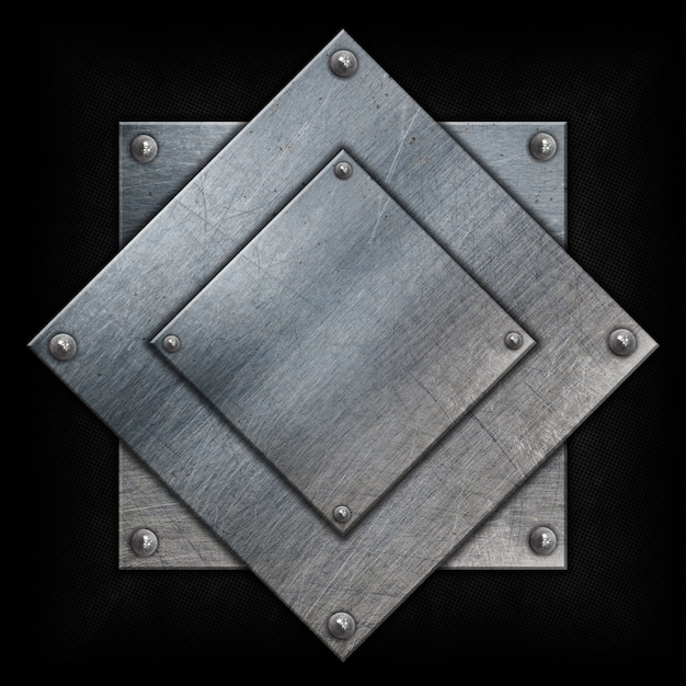 Metallic background with squared shapes Free Photo