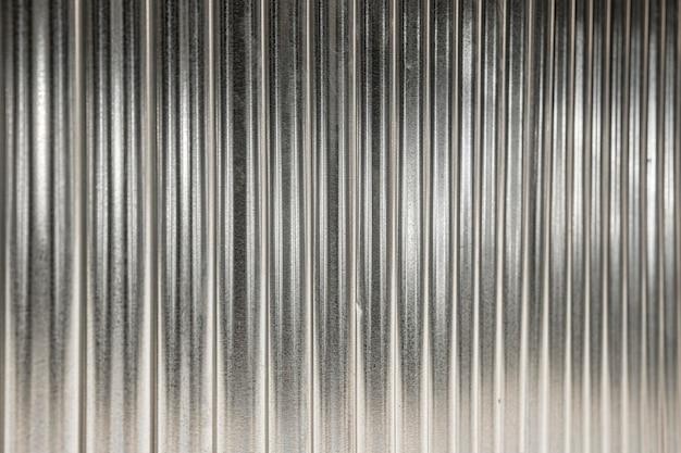 垂直の銀の線と金属の背景 Premium写真