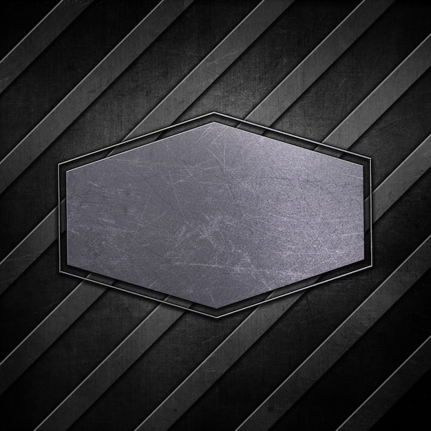 Metallic plate background with scratched grunge effect Free Photo