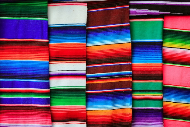 Mexican serape fabric colorful pattern texture Premium Photo