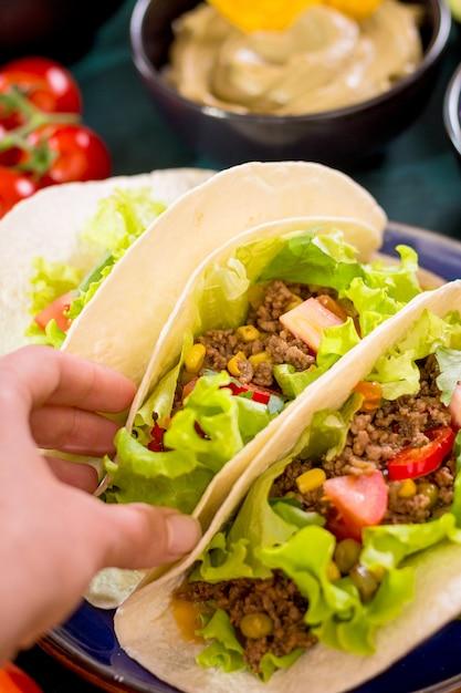 Mexican tacos Premium Photo