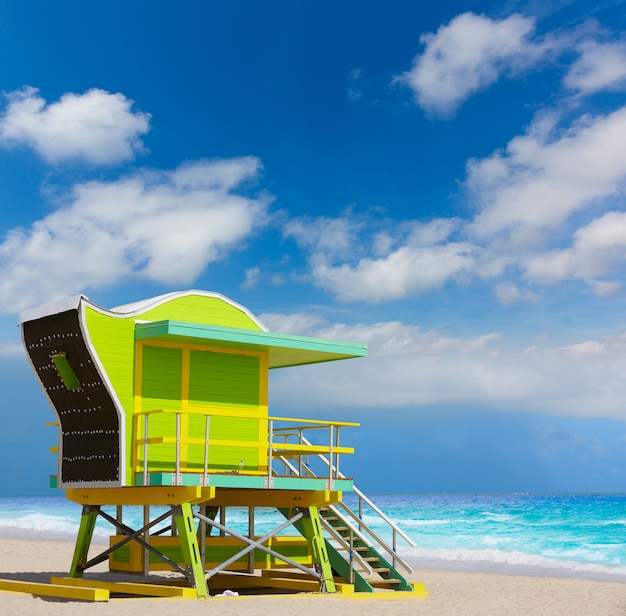Miami beach baywatch tower south beach florida Premium Photo