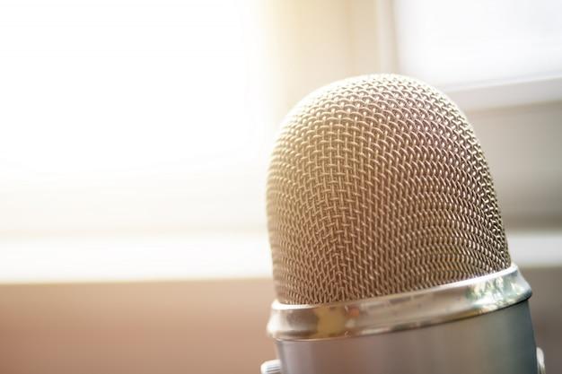 Microphone close up Premium Photo