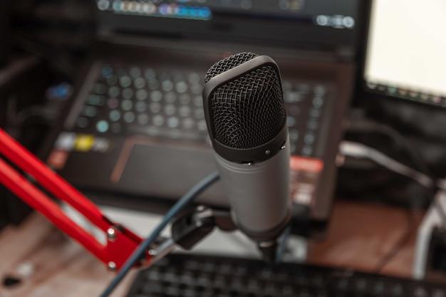 音楽スタジオのマイク Premium写真