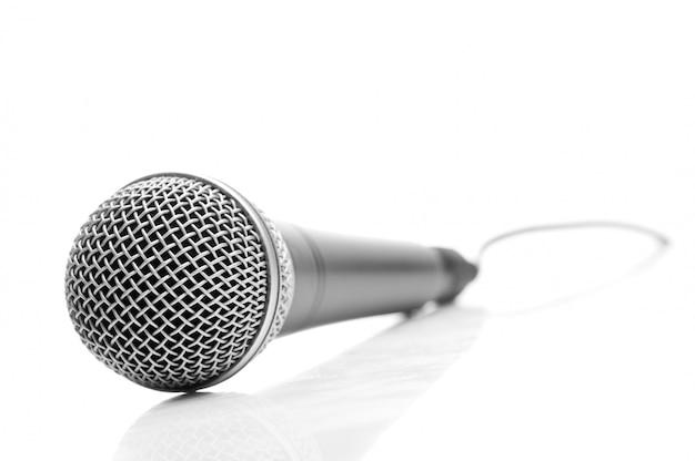 Microphone isolated on white Premium Photo