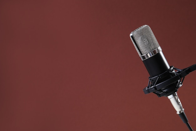 Microphone isolated Free Photo