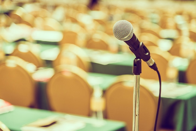 Microphone in meeting room Free Photo