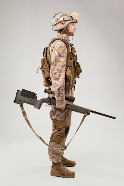 Military soldier us army marines operator Premium Photo