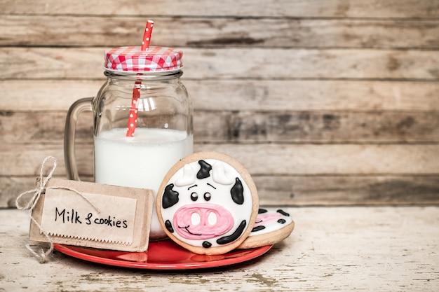 Молоко и детское печенье Бесплатные Фотографии