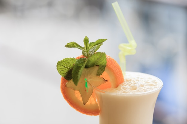 Milk cocktail. healthy food concept Premium Photo