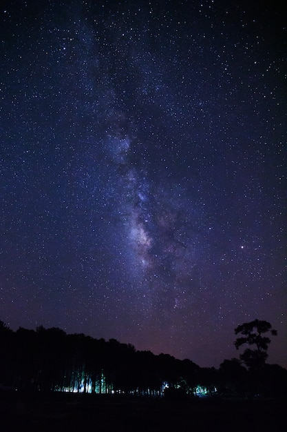 Milky way galaxy and space Premium Photo