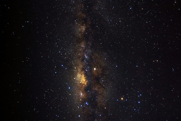 Milky way galaxy with stars and space dust in the universe. Premium Photo