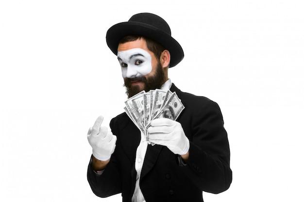 Mimo come uomo d'affari attirando denaro Foto Gratuite