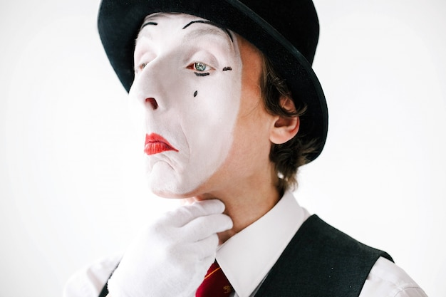 Mime has troubles with his throat Free Photo