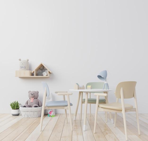 Mini scandinavian silla menta, children's room. Premium Photo
