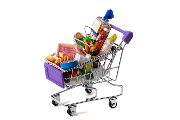 Miniature shopping cart Premium Photo