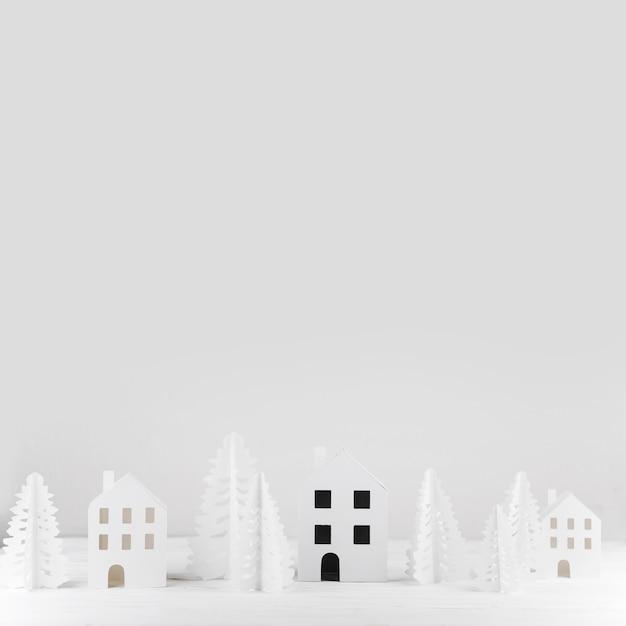 Miniature winter toy town Free Photo