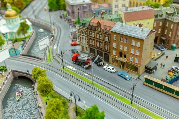 Miniature world, close up Premium Photo