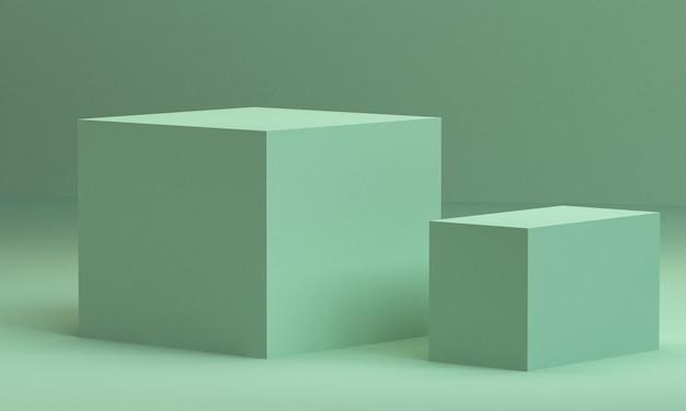 Minimalist abstract background, primitive geometrical figures, pastel colors, 3d render. Premium Photo