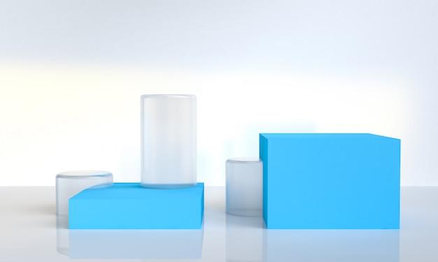 Minimalist abstract geometrical figures background Premium Photo