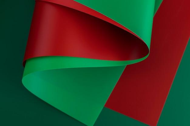 미니멀리스트 추상 빨강 및 녹색 논문 무료 사진