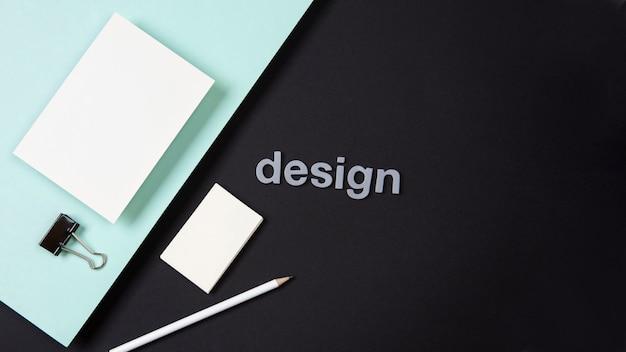 Минималистская концепция визитной карточки двойной хром Premium Фотографии