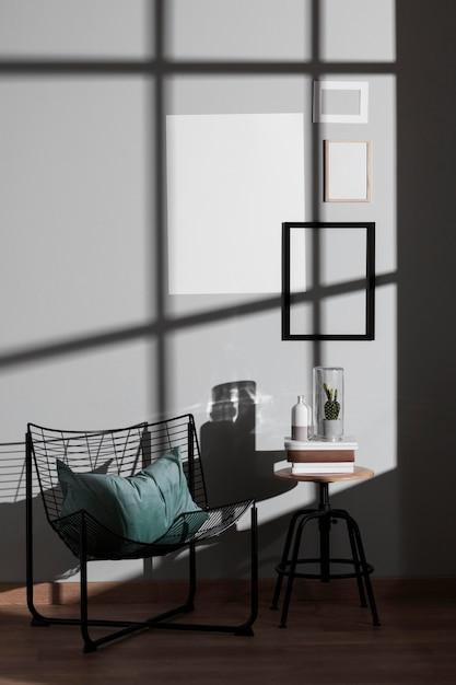 Минималистичный дизайн интерьера Premium Фотографии