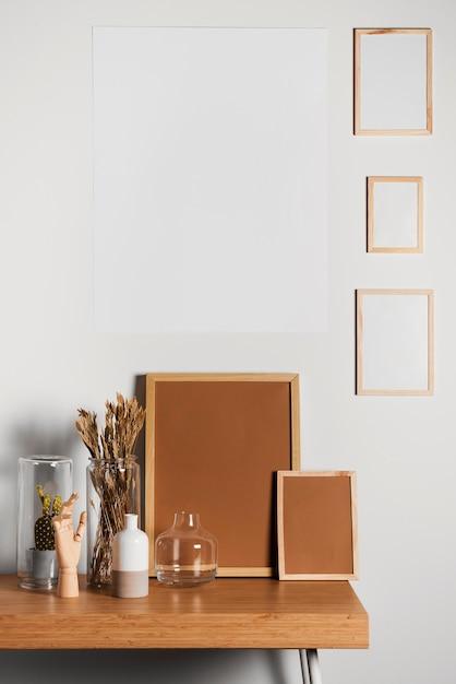 Минималистичный дизайн интерьера стола Premium Фотографии