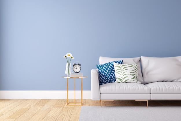 light blue house interior
