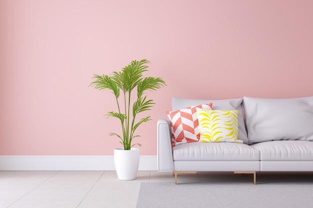Minimalist pastel color light pink and modern room for Design minimalista