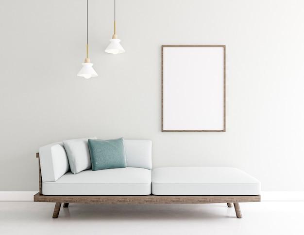 Minimalistic interior with elegant frame Premium Photo
