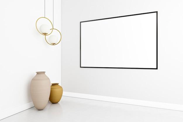 Минималистичный интерьер с элегантной рамкой Premium Фотографии
