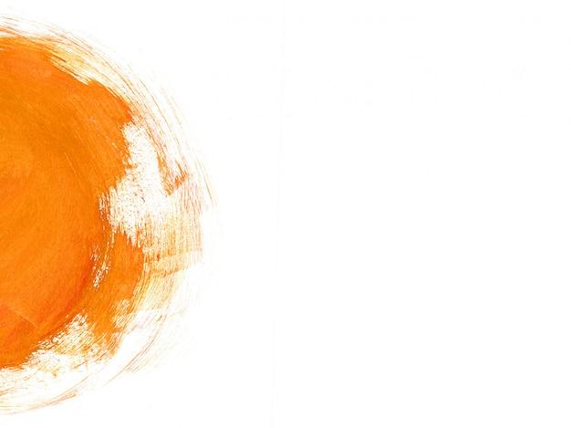 Minimalistic orange brushstrokes abstract background Premium Photo