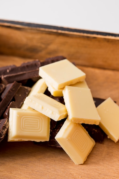 Mix of different chocolate bars Free Photo