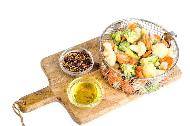 Mix of frozen vegetables Premium Photo